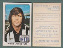 West Bromwich Albion Willie Johnston Scotland 359